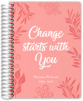 Change Starts With You Fitness Planner