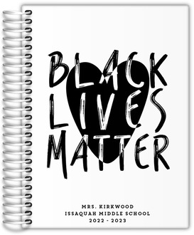 Black Lives Matter Heart Teacher Planner