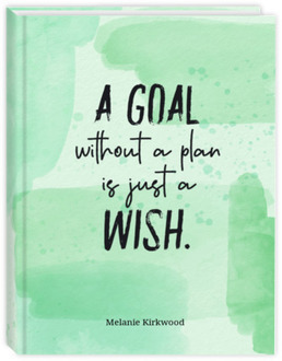 Green Watercolor Goal Student Planner