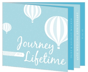 Journey Of A Lifetime 60Th Anniversary Invitation