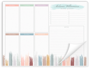 Pastel Paint Palette Planning Notepad