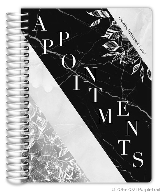 Cascading Handpainted Floral Weekly Planner