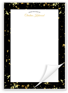 Elegant Gold Texture Personalized Notepad