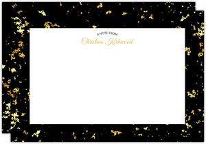 Elegant Gold Texture Personalized Notecard