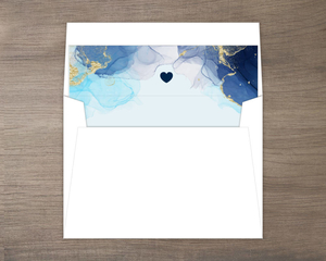 Blue Ink Art Envelope Liner