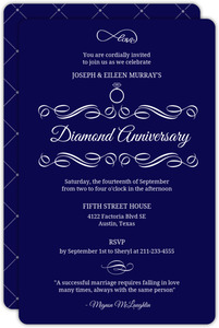 Elegant Swirl Diamond Anniversary Invitation