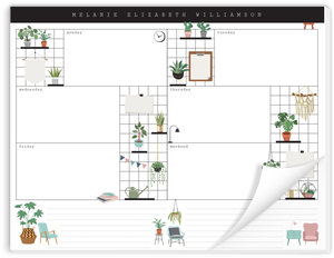 Grid Plant Weekly Desk Planner