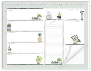 Plant Shelves Weekly Desk Planner