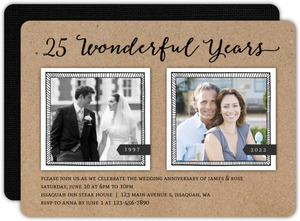 Wonderful Years 25th Anniversary Invitation