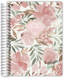 Soft Pink Floral Watercolor Daily Planner