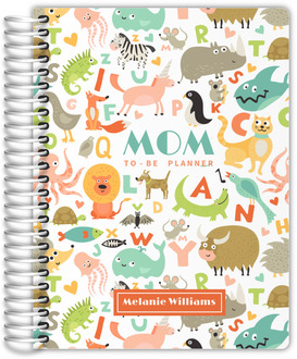 Colorful Animal Pattern Mom-to-Be Planner