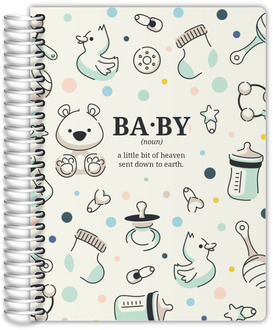 Mint Baby Icon Pattern Pregnancy Planner