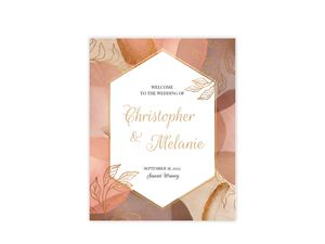 Warm Abstract Shapes Wedding Welcome Poster