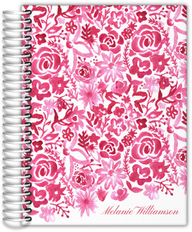 Cascading Handpainted Floral Journal