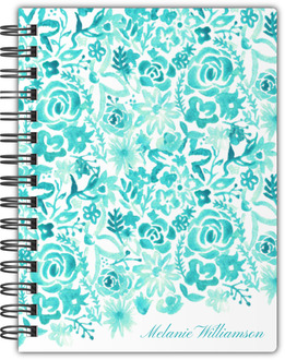 Cascading Handpainted Floral Notebook