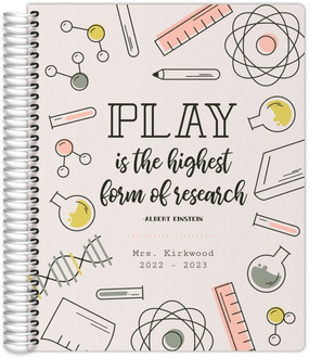 Cute Line Art  Quote Teacher Planner