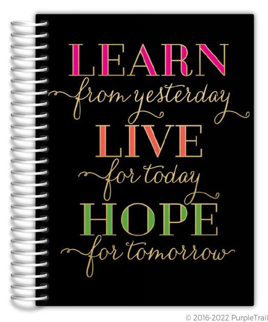 Learn Live Hope Custom Journal