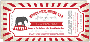 Carnival Admission Prom Invitation