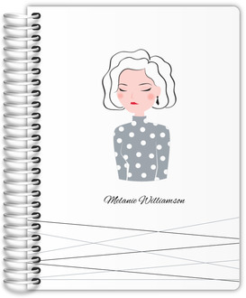 Modern Woman Illustration Custom Journal