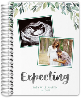 Cute Greenery Photo Pregnancy Planner