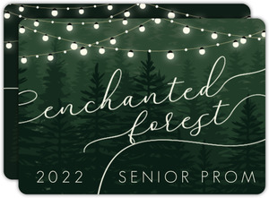 Evergreen Enchanted Forest Prom Invitation