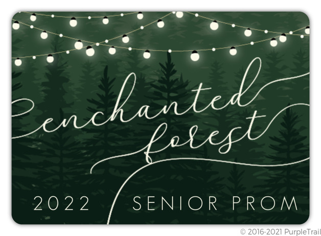 Evergreen Enchanted Forest Prom Invitation Prom Invitations