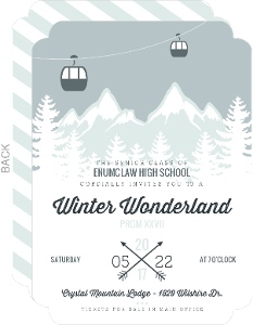Whimsical Winter Mountains Prom Invitation
