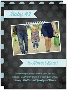 Sibling Baby Pregnancy Announcement