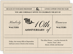 Western Love Anniversary Invitation