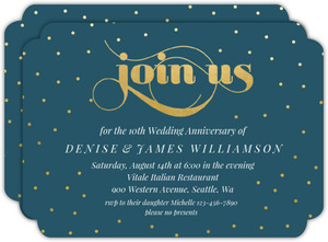 Celebration Dots 10th Anniversary Party Invitation