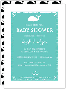 Modern Whale Baby Shower Invitation