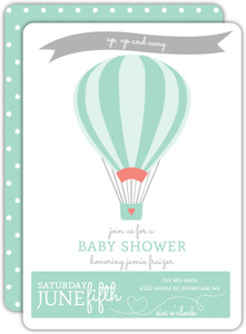 Up Up Air Balloon Baby Shower Invitation