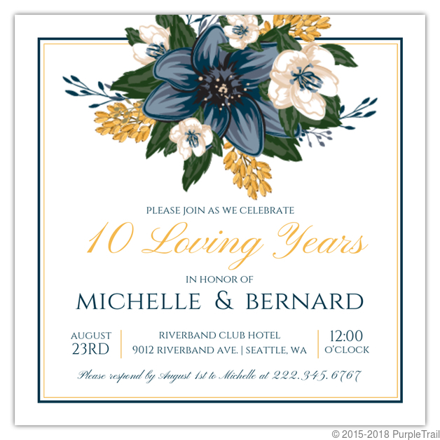 10 Year Wedding Anniversary Invitations: Paisley Red Anniversary 10th Anniversary Invite