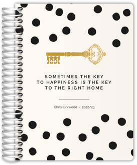 Faux Gold Key Confetti Real Estate Planner