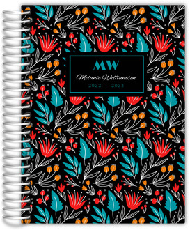 Bright Floral Pattern Real Estate Planner
