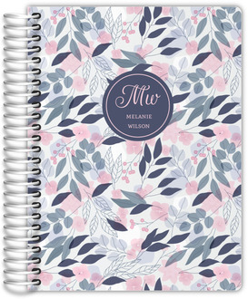 Pink Flower Pattern Daily Planner