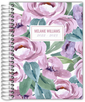 Beautiful Purple Floral Daily Planner