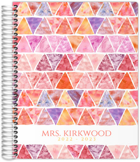 Watercolor Triangle Academic Planner