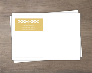 Floral Modern Gold Band Custom Envelope