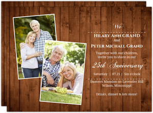 Wooden Picture Perfect Love 25th Wedding Anniversary