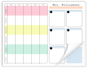 Grids Academic Weekly Notepad
