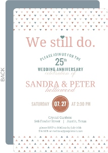 We Still Do Faux Glitter Decor Anniversary Invitation