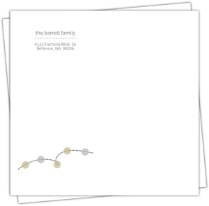 Gold And Silver Glitter Lights Envelope