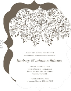 Elegant And Simple Anniversary Invite - 3973