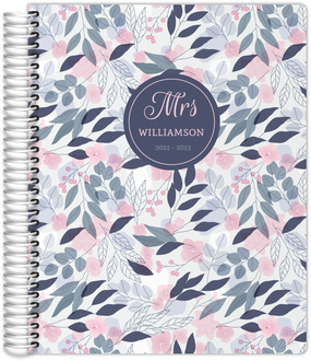 Pink Flower Pattern Academic Planner