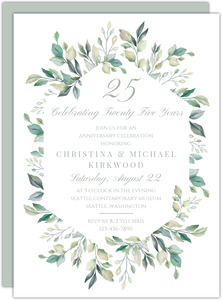25th Silver Wedding Anniversary Party Invitations {Holographic} 36 Cards with Envelopes by Simon Elvin