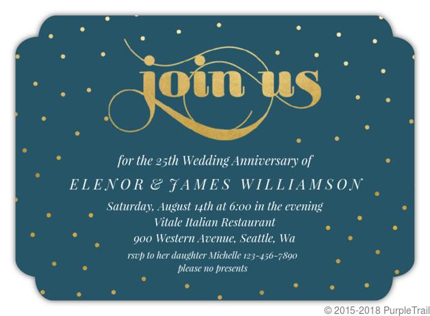 Celebration Dots 25th Anniversary Party Invitation