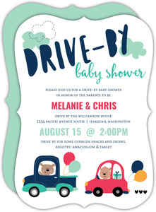 Cars Drive-By Baby Shower Invitation