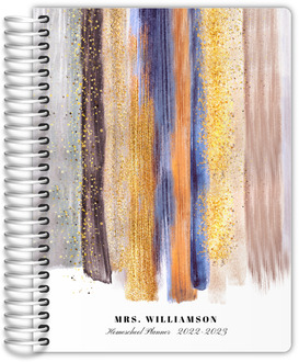 Paint  Faux Glitter Homeschool Planner