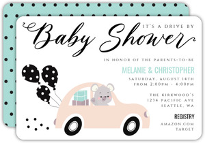 Baby Shower Drive By Invitation